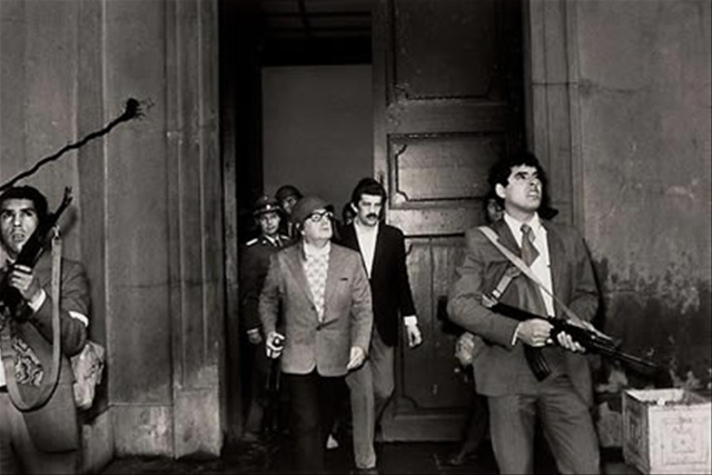 The last picture taken of Salvador Allende.